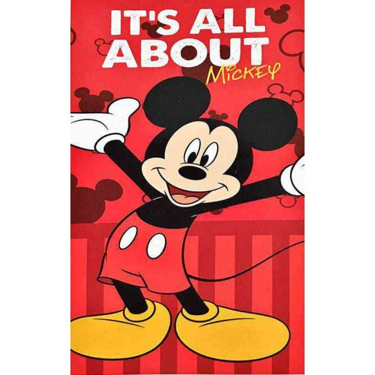 Telo Mare Mickey Mouse red Disney 70x140cm -