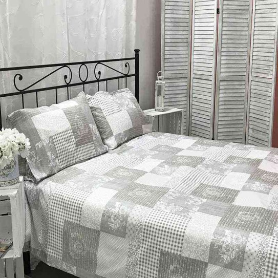 Parure copripiumino matrimoniale Home Colletion Pretty in microfibra -