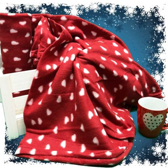 Plaid in pile Home Colletion Avantgarde Red Love 210x240cm -