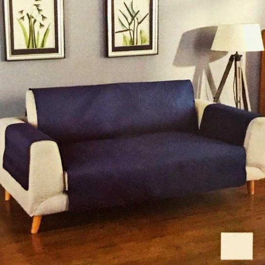 Copridivano trapuntato Susan blu 3 posti seduta 170/175cm - Centro Scampoli Carpenedolo