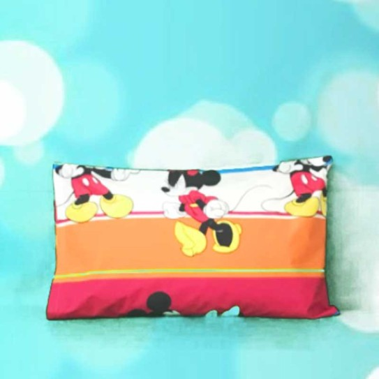 Federa cuscino Caleffi notti colorate Mickey Mouse e Minnie Disney -