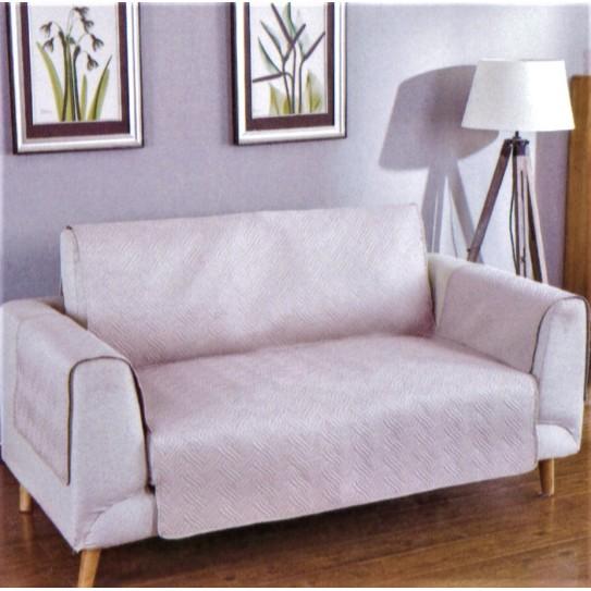 Copridivano trapuntato Susan perla 2 posti seduta 120/125cm - Centro Scampoli Carpenedolo
