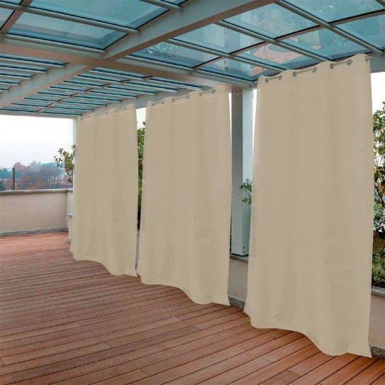 Tenda da Sole tinta unita nocciola 150x250cm