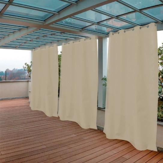 Tenda da Sole tinta unita nocciola 150x300cm