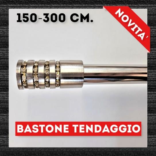 Bastone per tende diamante acciaio