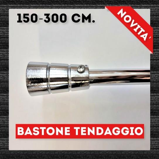 Bastone per tende Batoon Acciaio Bastone in ferro estensibile da 150 cm. fino a 300 cm. -