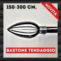 Bastone per tende Ovale classic nero e argento