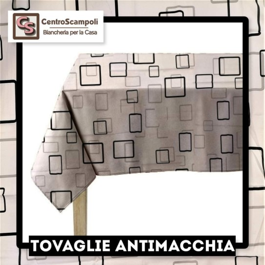 Tovaglia Antimacchia Black & White 140x240 - Centro Scampoli Carpenedolo