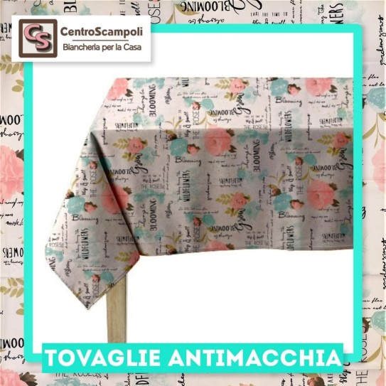 Tovaglia Antimacchia WILDFLOWERS 140x300 - Centro Scampoli Carpenedolo