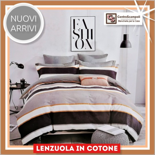 Lenzuola matrimoniali puro cotone Fashion and stripe