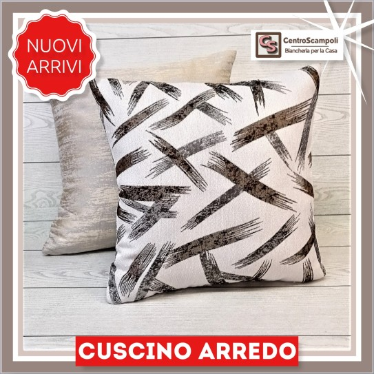 Cuscino arredo divano 40x40 Brown brush -