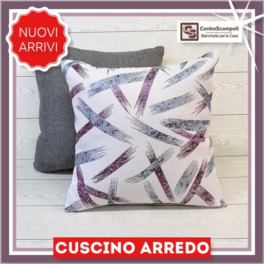 Cuscino arredo divano 40x40 Purple brush -
