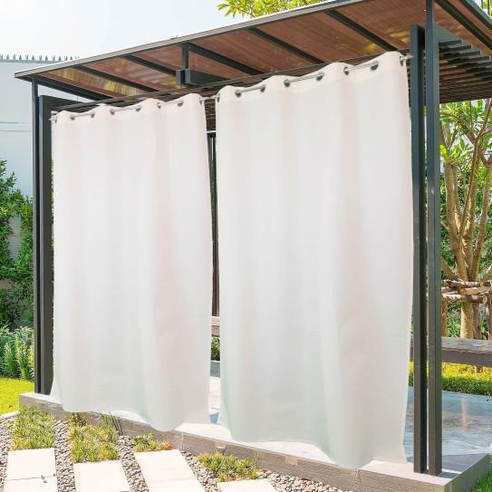 Tenda da Sole tinta unita bianco naturale 150x300cm