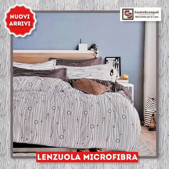 Lenzuola singole Microfibra Space red