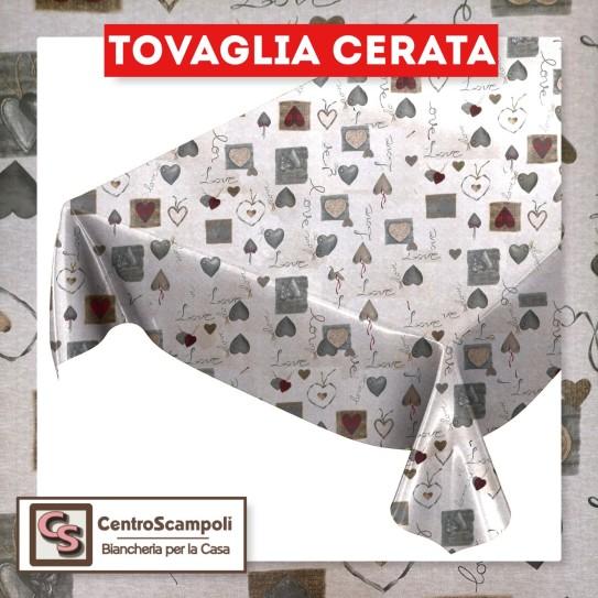 Tovaglia cerata PVC a metraggio cuore rosso PRODOTTO DISPONIBILE SOLO IN NEGOZIO - Centro Scampoli Carpenedolo
