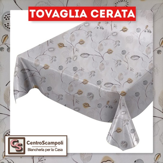 Tovaglia cerata PVC a metraggio fiore beige PRODOTTO DISPONIBILE SOLO IN NEGOZIO PER INFORMAZIONI WHATSAPP: 351 59 44 95