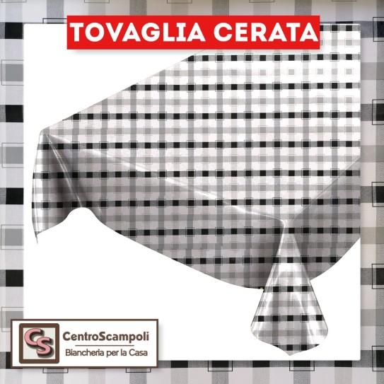 Tovaglia cerata PVC a metraggio quadro nero PRODOTTO DISPONIBILE SOLO IN NEGOZIO PER INFORMAZIONI WHATSAPP: 351 59 44 95