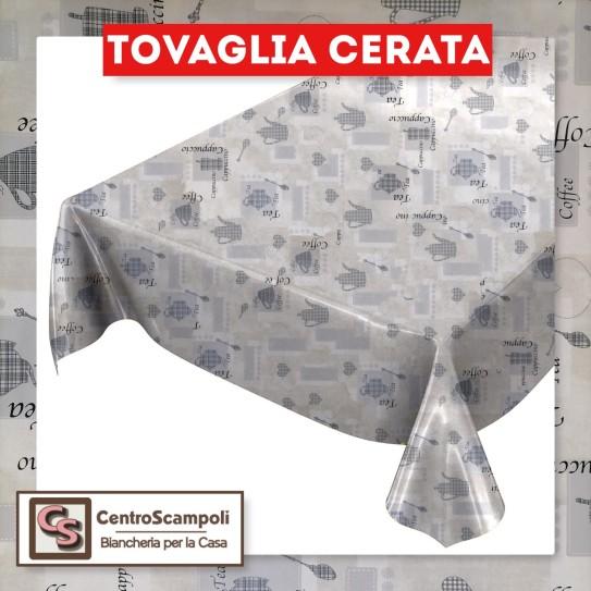 Tovaglia cerata PVC a metraggio grey coffe PRODOTTO DISPONIBILE SOLO IN NEGOZIO PER INFORMAZIONI WHATSAPP: 351 59 44 955