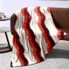 Plaid in pile matrimoniale red wave
