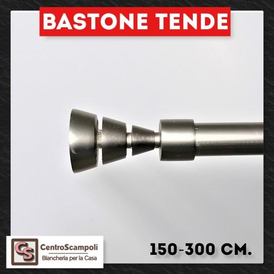 Bastone per tende Spacestar acciaio Bastone in ferro estensibile da 150 cm. fino a 300 cm. - Centro Scampoli Carpenedolo