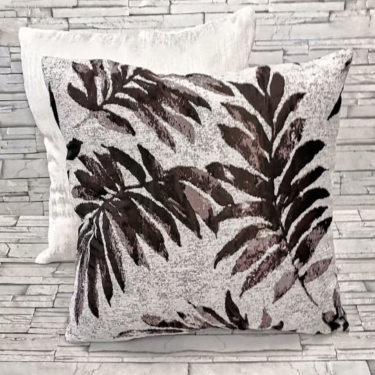 Cuscino divano arredo casa 50x50 jungle 01 moro - marrone