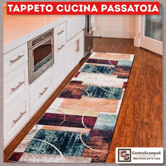 Tappeto cucina passatoia 50x180 Red one