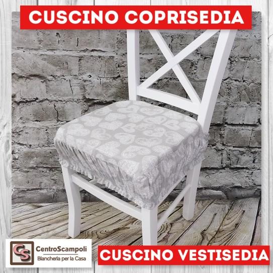 Cuscini per sedia vestisedia cuore grigio