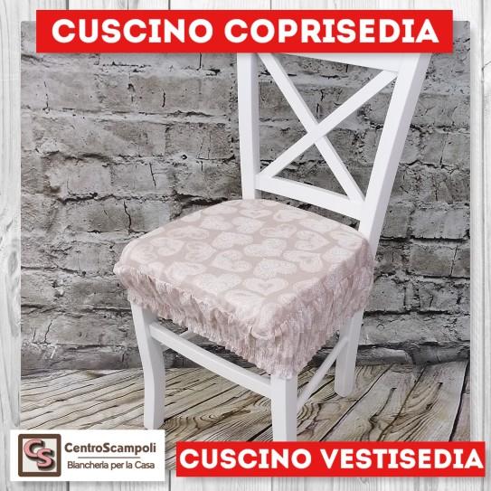 Cuscini per sedia vestisedia cuore beige
