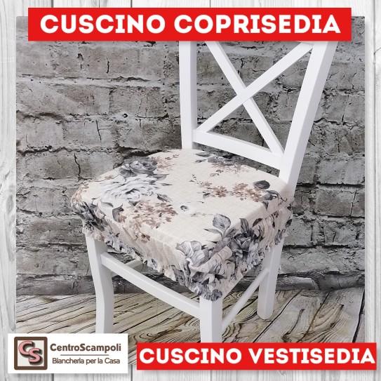 Cuscini per sedia vestisedia rosa grigia