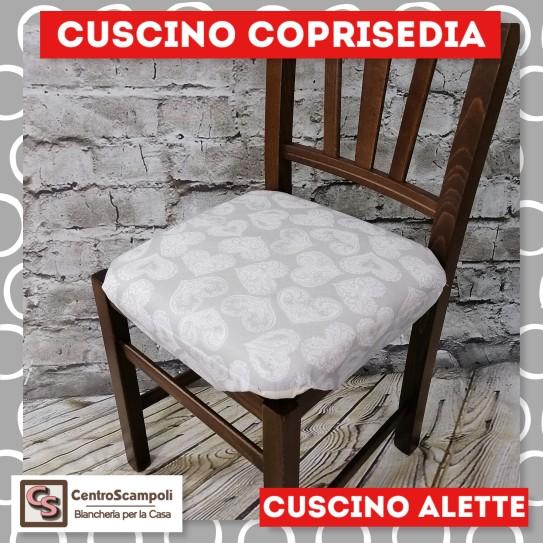 Cuscini per sedia alette piovra Cuore grigio
