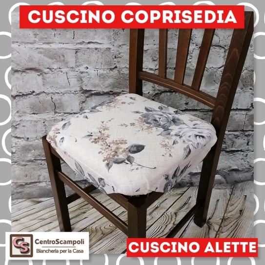 Cuscini per sedia alette piovra Rosa grigia