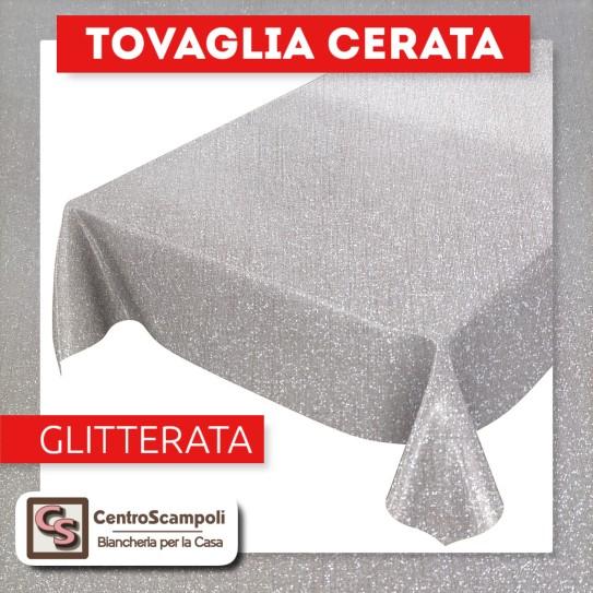 Tovaglia cerata PVC a metraggio GLITTER PERLA