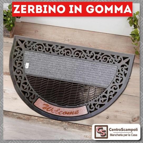 Zerbino in gomma antiscivolo elegante grigio